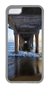 iPhone 5C Case and Cover - Sunset under the pier TPU Rubber Case Cover for iPhone 5C - Transparent