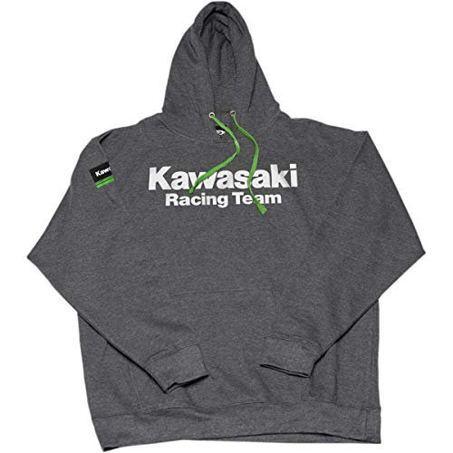 - Factory Effex Kawasaki Team Pullover Hoody Charcoal (Gray, X-Large)