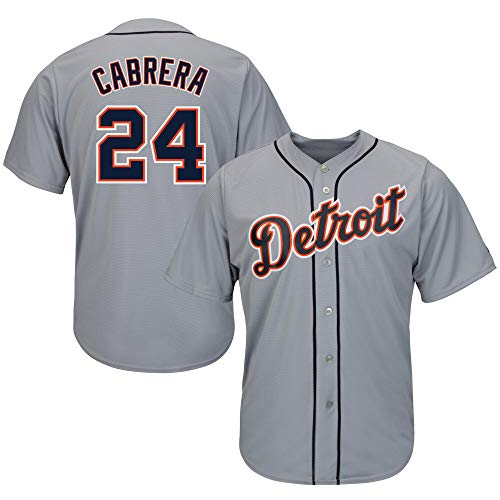(TOU DLE Men's/Women's/Youth Miguel Cabrera Gray Cool Base Player Jersey)