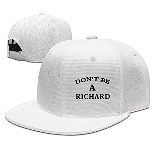 Dont Be A Richard Snapback Caps Flat Bill Baseball Hats ()