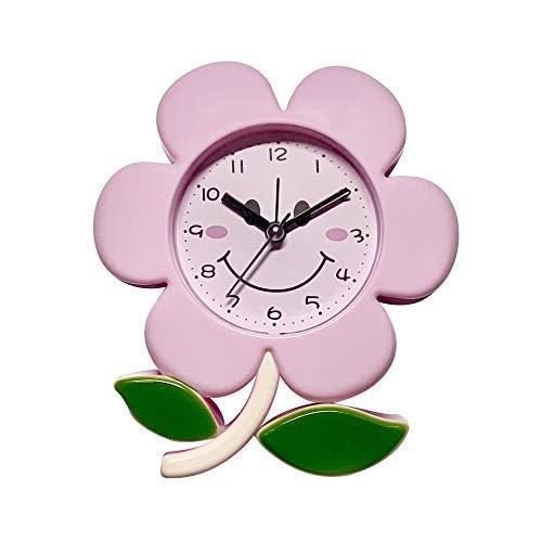 Alarm Clock for Kids Room Alarm Clock Cute Pink Flower Shape Kids Clock for Bedside Adorable Style Clock for Kids and Teen Bedroom