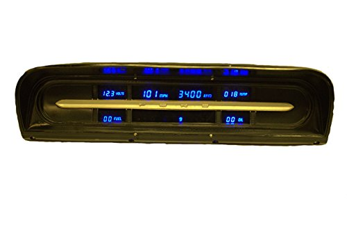 1967-1972 Ford Truck LED Digital Replacement Panel (Blue) (1967 Ford Trucks)