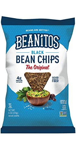 Beanitos Black Bean, The Healthy, High Protein, Gluten free, and Low Carb Vegan Tortilla Chip Snack, 10 Ounce