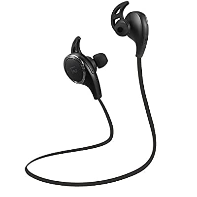 TaoTronics Bluetooth Headphones Wireless Sports Earphones SweatProof Earbuds with Built-in Mic (Balanced Audio, Cordless 4.1, aptX, CVC 6.0) from TaoTronics