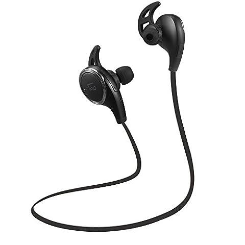 TaoTronics Bluetooth Headphones Wireless Earbuds Sports In Ear Sweatproof Earphones with Built in Mic (Balanced Audio, aptX Lossless sound, Cordless 4.1, CVC 6.0 Noise Cancellation) (Taotronics Bluetooth Headphones)