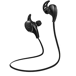 Bluetooth Headphones, TaoTronics Wireless Earbuds Sweatproof Sport Earphones, Lightweight and Fast Pairing(Comfortable Elastic Silicon Covering, CVC 6.0 Noise Cancelling Mic, 5 Hours Battery) (Black)