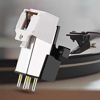 ASHATA Aguja de Cartucho Magnético Audio-Technica con Aguja de ...