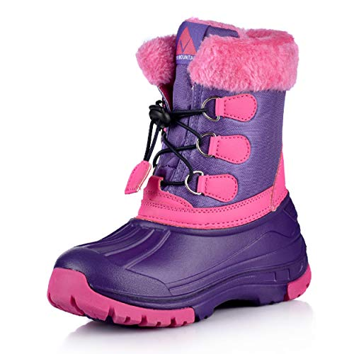 Nova Mountain Little Kid's Winter Snow Boots,NF NFWBN03 PurpleFuchsia 10