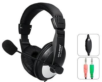 Ovleng Ov-l750mv 3.5mm Clavija Estéreo Voz Auriculares Con Micrófono Y Cable De 1