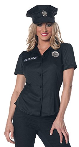 Womens Police Shirt Adult Costume (Women Scary Costume)
