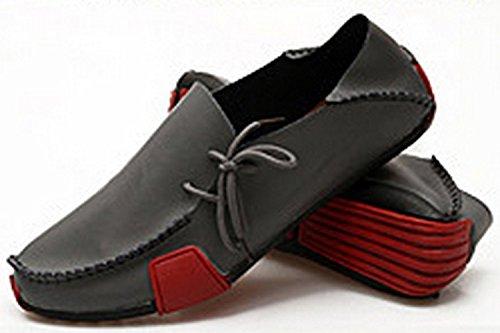 ECOTISH Herren Slip On Driving Echtleder Loafer Schuhe Wanderschuh Mokassins