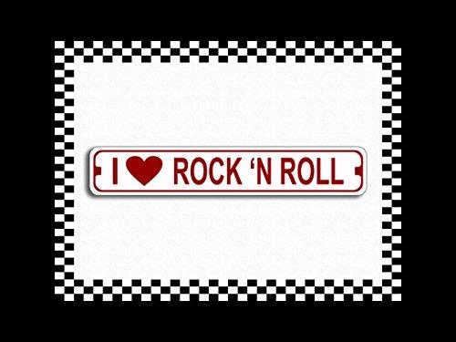 (I Love Rock N Roll Novelty Metal Street Sign 3x18)