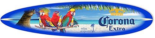 Corona Sign – 4′ Malibu Surfboard Parrots at The Beach
