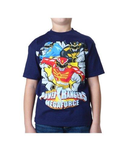 FREEZE Big Boys' Power Rangers Mega Force T-Shirt, Navy, Small (Power Ranger Clothes)