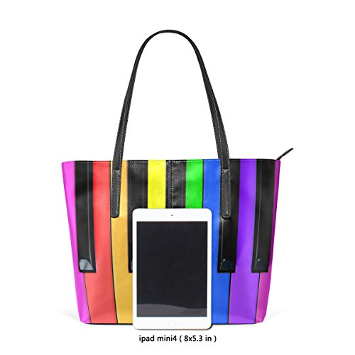 Colorful Purses PU Piano Handle Handbag Top Leather Shoulder Fashion Women's Bags Music Keys TIZORAX Totes Fw56gqR