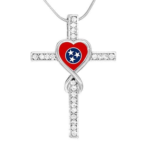 M100% Cross Love Heart Infinity God 3D Print Jewelry Tennessee State Flag Cross Pendant Necklace