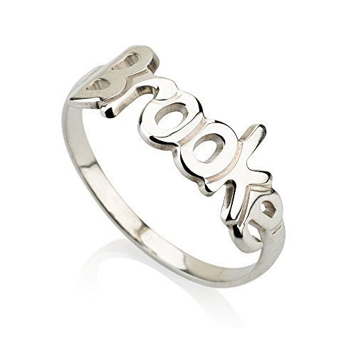 Initial Ring Name Ring Personalized Ring - 925 Sterling Silver (Initial Monogram Ring)