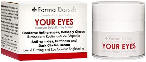 Farma Dorsch Your Eyes - Contorno de Ojos Premium, Crema Hidratante para tratar Bolsas y Ojeras, Reafirmante de Párpados, con Efecto Anti Arrugas, 15 ...