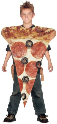 Toddler Costumes Pizza (Pizza Slice Kids Costume, One Size fits Most Up to Size)