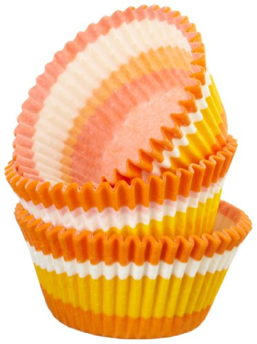 UPC 080988701298, Regency Wraps Greaseproof Baking Cups, Orange Swirl, 40-Count, Standard.