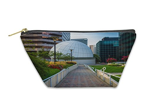 Gear New Accessory Zipper Pouch, Walkway And Modern Buildings At Freedom Park In Rosslyn Virgin, Large, - Arlington The Stores At Parks