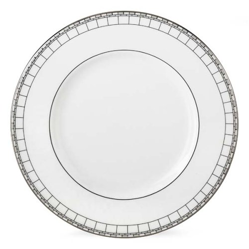 "Lenox Timeless Bone China Platinum Banded 9"" Accent Plate"