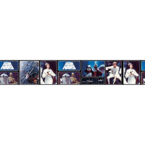 Star Wars Retro Self Adhesive Wallpaper Border 5m (Border Wars Star Wallpaper)