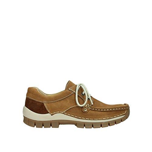 Cordones 175 10410 Zapatos Nubuck para 4708 Tabacco de Wolky Mujer SOqp4p