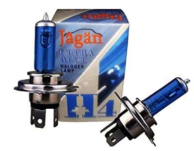 Pair H4 Ultra Blue P43t Headlight Bulb Halogen Lamp 12V 100/90W