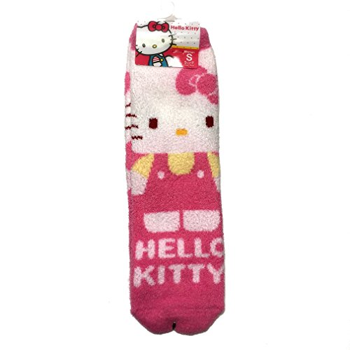 Hello Kitty Woman's Plush Socks Pink Small (Shoe Size 5 1/2 - 7)