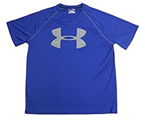 Under Armour Short Sleeve T-Shirt Mens Blue Grey (Large, Blue Grey)