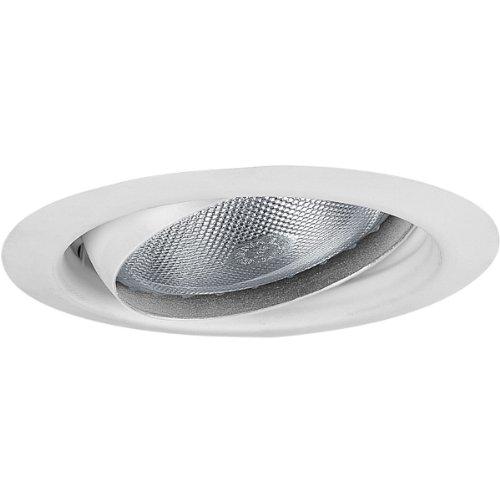 Progress Lighting P8176-28 5-Inch Eyeball Trim, Bright White 20 Antique Bronze Baffle