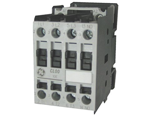 GE (General Electric) - CL00A310T1 - IEC Magnetic Contactor, 24VAC Coil Volts, 9 Full Load Amps-Inductive, 1NO Auxiliary Contact - Amp 24v Coil
