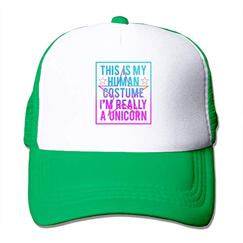 (Seuriamin This is My Human Costume, I'm Really A Unicorn Men's&Womens Unisex Casual Cap with Adjustable Strap)