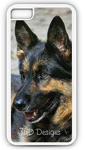 iPhone 8 Case Schafer German Police Dog Puppy Canine K9 Unit Customizable by TYD Designs in White Plastic