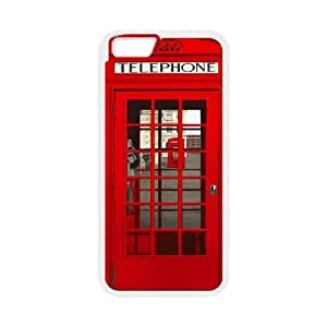 """Personalized iPhone6 Plus 5.5"""" Case, Red London Telephone Box Kiosk Booth quote DIY Phone Case"""
