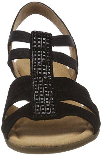 schwarz Comfort Para Sandalia Shoes Pulsera Mujer Strass Negro Con Sport Gabor wq5gRzY