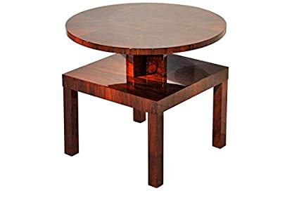 Amazon Com Oam Vintage Art Deco Side Table Made Mahogany Walnut