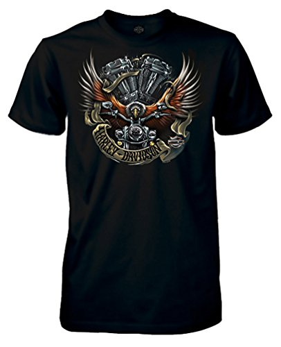 Ride Eagle (Harley-Davidson Men's Eagle Ride Short Sleeve Crew Neck T-Shirt, Black (4XL))