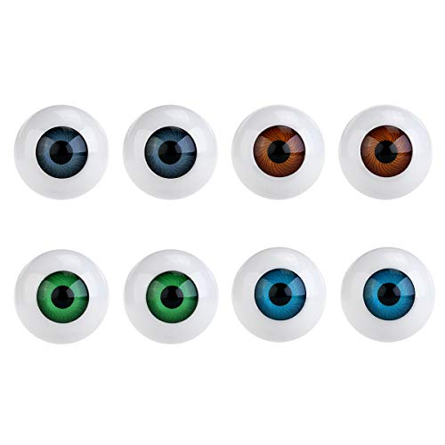 WINOMO 8PCS Hollow Eyeball Mask Halloween Horror Props Costume Plastic Eyeballs Halloween