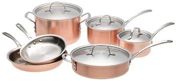 Calphalon T10 Tri-Ply 10 Piece Copper Set