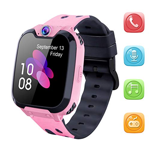 Kids Smart Watch for Boys Girls - HD Touch Screen Sports Smartwatch Phone with Call Camera Games Recorder Alarm Music Player for Children Teen Students Age 3-12 (X9-Pink) (Smart Camcorder)