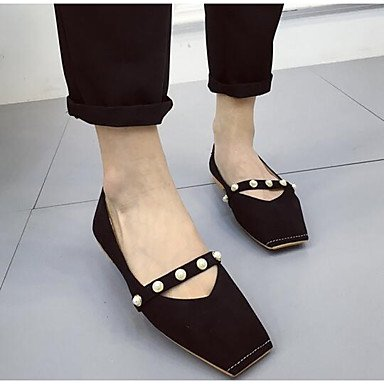 Wuyulunbi@ Damenschuhe Frühjahr Sommer Mary Jane Ballerinas Schuhe flache Square toe Stiefelies Ankle Stiefel Pearl für Casual