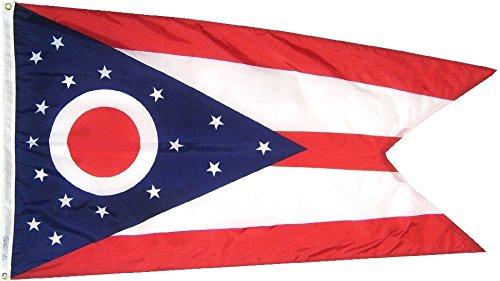 Ohio – 2′ x 3′ Nylon State Flag For Sale