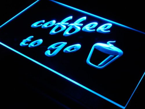 ADVPRO Cartel Luminoso s016-b Coffee to Go Shop Bar Pub Neon ...