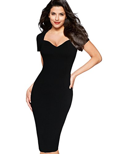 Buy below the knee black sheath dress - 5