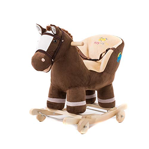 (Byx- Baby Rocking Horse - Rocking Chair Cart Age Gift Solid Wood Dual-use Music Baby Toy Trojan Children Early Education Educational Toys - Baby Rocking Horse)