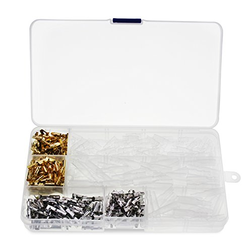OCR Wire Terminal Crimp 4MM Male Female Bullet Terminal Block Connector with Insulating Sleeve Assortment Kit 400PCS(400Pcs-Crimp Terminal)