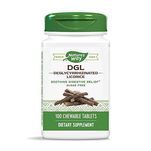 Chewable Dgl Licorice - Enzymatic Therapy, DGL (Without Fructose), 100 Chewable Tablets. Pack of 2 Bottles