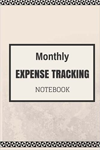 monthly expense tracker notebook a personal home budget manager